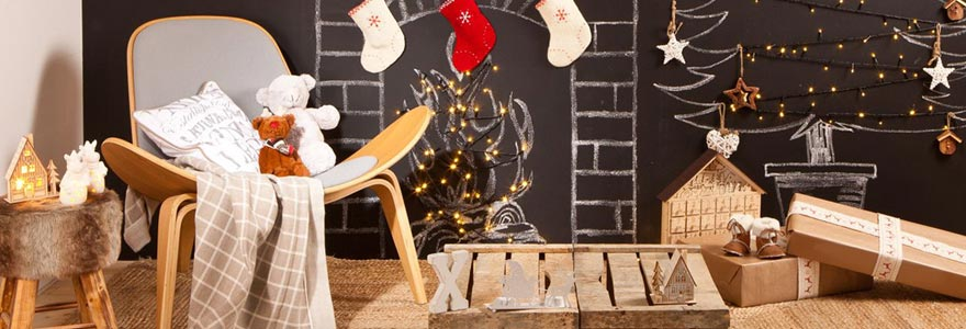 Relookez le salon pour une ambiance festive originale for Decoration maison noel etats unis